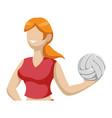 voleyball player cartoon vector image
