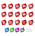 E-mail Stickers vector image vector image