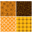 Halloween seamless patterns Set of four vector image