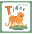 Letter T - Tiger vector image vector image