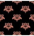 Seamless pattern with pink floral elements vector image
