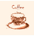 Watercolor coffee background vector image vector image