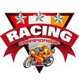 Racing Championship vector image vector image