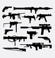 Gun weapon silhouette vector image vector image