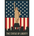 statue of Liberty in New York vector image vector image