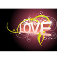 Beautiful love background vector image