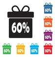 Box discounts gift box buyer vector image