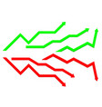business indication arrows up down arrows vector image