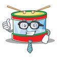businessman toy drum character cartoon vector image