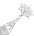 Champagne explosion bottle vector image