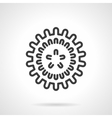 Influenza virus black line design icon vector image