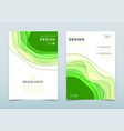 modern design of business brochure vector image
