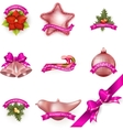 Set of Christmas attributes and toys EPS 10 vector image