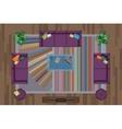 Sofas Armchair Set Furniture Pouf Carpet TV vector image