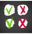 Check mark grunge symbols vector image vector image