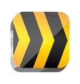 3d symbol caution ribbon message vector image