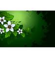 grunge natural floral background vector image
