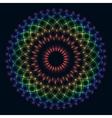 rainbow flower of life vector image