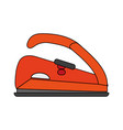 color image cartoon electric iron for clothes vector image
