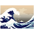 Large frothy waves of the sea vector image