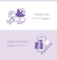 marketing promotion and mobile business template vector image