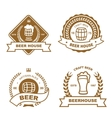 Set of monochrome badge logo and design elements vector image