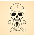 Skull and crossbones vector image