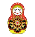 Zentangle stylized elegant Russian doll vector image