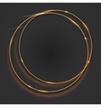 Sparkling golden glow rings vector image
