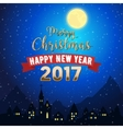 Christmas Mountain Town Landscape vector image
