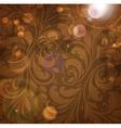 Brown Floral Patterned Background vector image