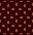 luxury golden vinous pattern vector image