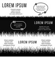 minimalistic banners template with black and white vector image