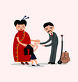happy chinese family vector image