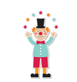 clown sticker vector image vector image