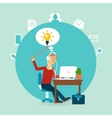 office worker with an idea vector image vector image