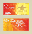 Gift certificate voucher coupon card HotelRestaura vector image