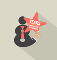 8th Years Anniversary Typography Design vector image