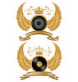 music heraldry vector image vector image