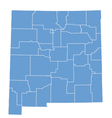 State map of New Mexico by counties vector image