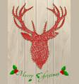 deer thread christmas vector image