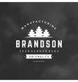 Fir Trees Logo Template Design Element vector image