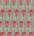 Floral background in Doodle style rose vector image