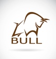 image of an bull design vector image
