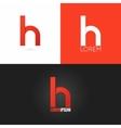 letter H logo design icon set background vector image