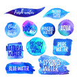 set of water labels vector image
