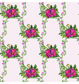 Watercolor Pansy Bouquet Pattern vector image