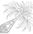 Champagne explosion vector image