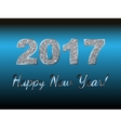 Happy New Year 2017 background Silver vector image vector image