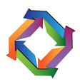 Abstract arrows geometric logo vector image vector image